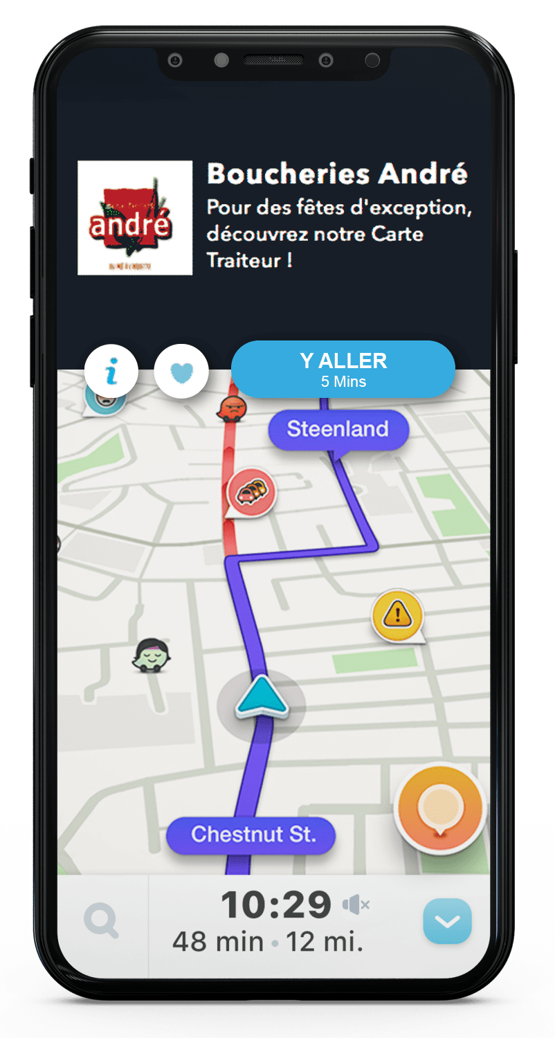 marketing sur mobile waze